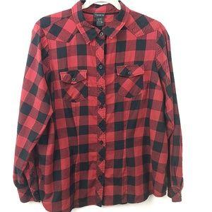 Torrid Buffalo Plaid Shirt 1X Red Black